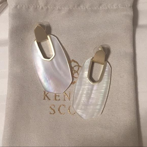 """Kendra Scott """"Kailyn"""" earrings in ivory"""